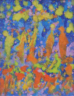 8. Jardin de azul 14 x 18 cm