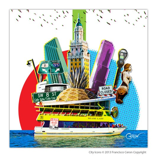 City Icons Miami Bay