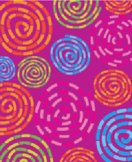magenta with swirls